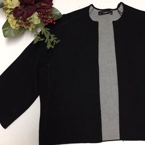ZARA KNIT M Career 3/4 Length Sleeve Blazer